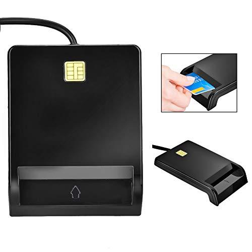 Adattatore usb per lettore di smart card sim/atm/ic/id, nero fornisce servizi bancari online, acquisti online con carta di credito