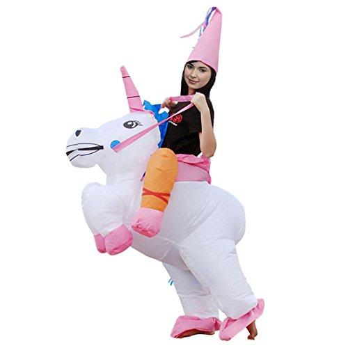 achsene Halloween Lustige Fancy Blow Up Outfit Kostüm Aufblasbare Anzug Einhorn (Blow Up Einhorn Kostüm)
