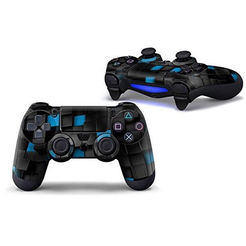 Stillshine PS4 Controller Vinyl Skin Diseñador Piel Pegatina para Sony PlayStation 4 PS4 Slim PS4 Pro DualShock mando inalámbrico x 1 (Box Black-Blue)