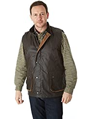 Sherwood Forest Suffolk - Chaleco de caza para hombre, color marrón, talla XL