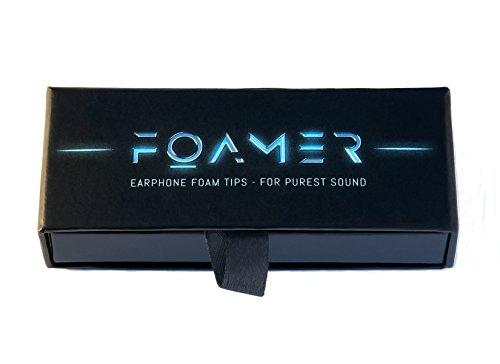 FOAMER F4.9 (L 6) • 6 Paar Noise Cancelling Schaum Ohrpolster für In Ear Kopfhörer • Ersatz für Silikon Ohrhörer Aufsatz • Extra Bass & Klarer Klang • InEar Ohrstöpsel, Memory Foam Earphone Tips thumbnail