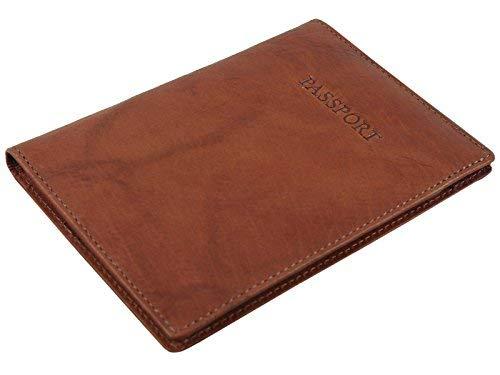 Visconti echtem Leder Passport & Kreditkarte Halter Wallet Cover Fall-2201 braun -