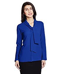 AND Womens Body Blouse Shirt (AW16A56TTG1INK BLUE10)