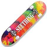 QYSZYG Skateboard à roulettes Double Haut pour Adulte débutant High School Students Brush Street Cool Handsome Street Skateboard de Style optionnel b