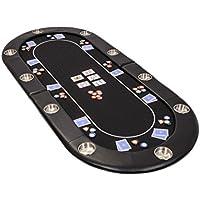 Riverboat Faltbare Pokerauflage mit Schwarzem wasserabweisenden Stoff und Tasche - Pokertisch 200cm