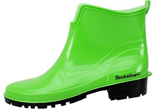 BOCKSTIEGEL® SASKIA Damen - Modische Gummihalbstiefel (36-42 Rubber Boots) Light green / Black