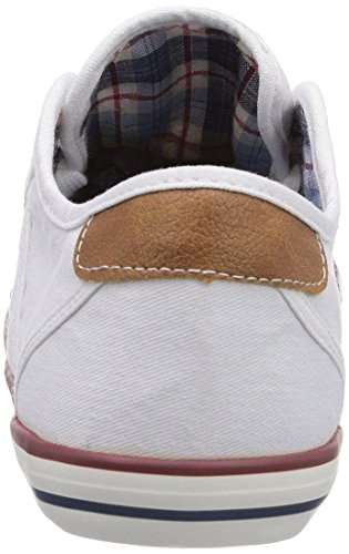 Mustang coole Jungen Canvas Sneakers Low weiß, Mustang-Laufsohle, 3338118/31 Weiß