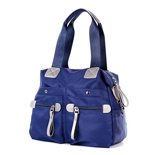 Transer Handbags & Single Shoulder Bags Women Zipper Bag Girls Hand Bag, Borsa a spalla donna Black 33cm(L)*29(H)*13cm(W) Dark Blue