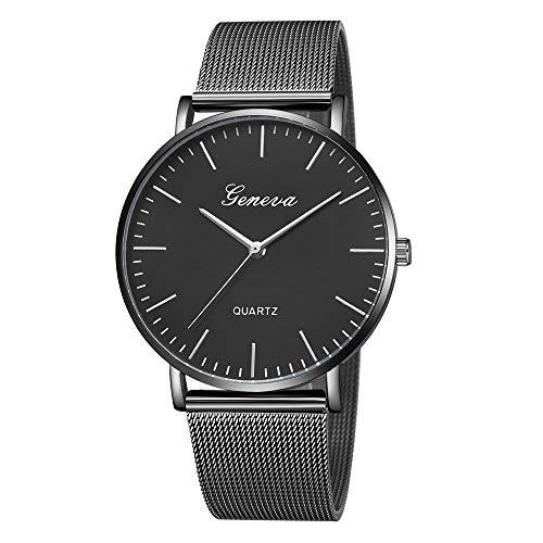 (Jia Meng Geneva Mesh Gürtel Damen Classic Quartz Edelstahl Armbanduhr Armband Uhren)