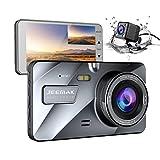 JEEMAK 1080P+720P Dual Lens Auto Dash Cam 4
