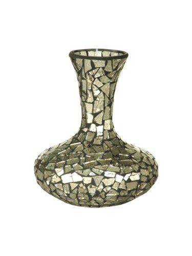 Dale Tiffany Dekovase, silberfarben Bud Vase 7-Inch by 8-1/2-Inch Mehrfarbig - Tiffany-glas-vase