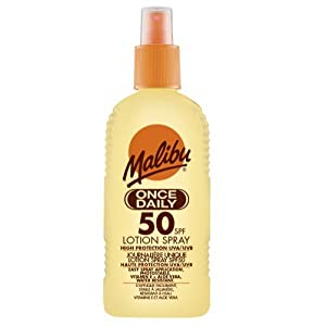Malibu Once Daily Lotion Spray with SPF50 200 ml