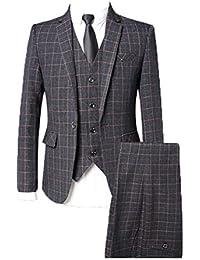 ROBO Costume Homme Un Bouton Slim Fit Mode Trois Pièces Elégant Mariage Business