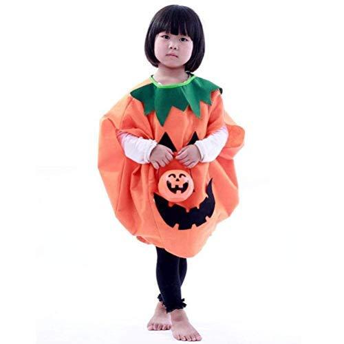 Winomo - costume per halloween da bambini, travestimento da lanterna a forma di zucca