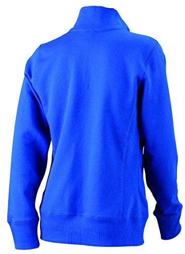 James & Nicholson Damen Jacket Sweatshirt Blau (Royal)