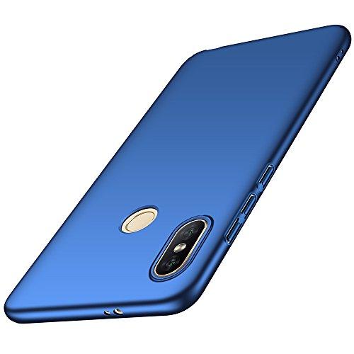 Funda Xiaomi Mi Mix 2s, LAGUI Carcasa Dura de Ultrafino, Caja del Teléfono de Ligera y Simple de Un Único Color, Anti-Arañazos Anti-huella Cubierta Protectora, azul