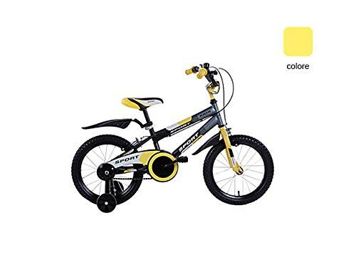 schiano 792 bicicletta sport uomo 01v. giallo con ruota diametro 16