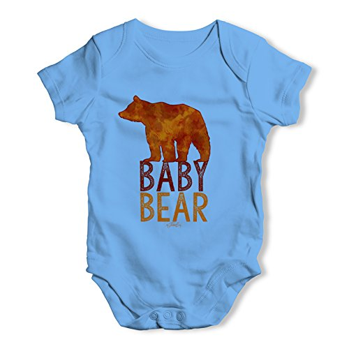 TWISTED ENVY Baby Bear Silhouette Baby Unisex Funny Baby Grow Bodysuit