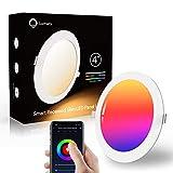 Lumary Smart Faretti LED da Incasso 6W 480lm, Luci Ultrasottili da Soffitto RGBW Luce Bianca Calda Dimerabile (2700K-6500K),Plafoniere LED Soffitto Wifi Intelligente Compatibile con Alexa,Google Home.