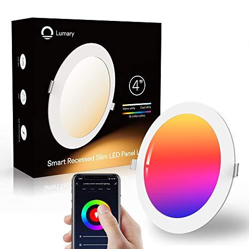 Lumary 6W LED Einbaustrahler LED Deckenstrahler Deckenspots Deckenleuchte, 16 Millionen Farben Dimmbar Weiß(2700K-6000K) LED Einbauleuchte Einbaustrahler Einbauspots Kompatibel mit Echo,Google Home