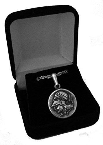 oin Anhänger und Kette, griechischen Götter und Göttinnen Collection (# 43pendchain-s) (Poseidon Trident Spielzeug)