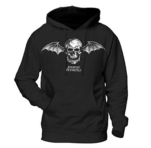 Avenged Sevenfold Death Bat felpa con cappuccio Ufficiale Autorizzato Musica