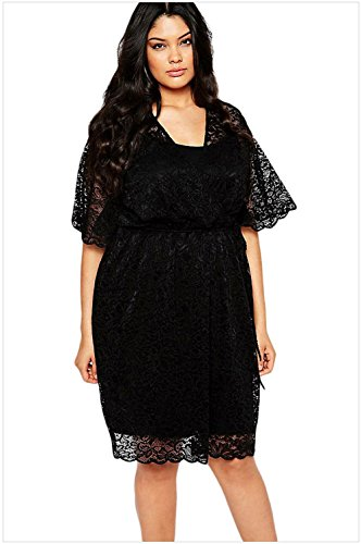 meinice-2pcs-plus-size-lace-wrap-dress-black-xxxl