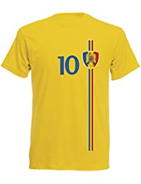 Rumänien Kinder T-Shirt Trikot St-1 EM 2016 - gelb Romania Kids