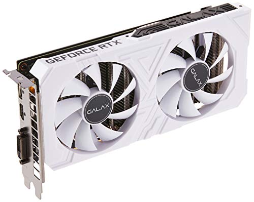 GALAX GeForce RTX 2060 EX White (1-Click OC) 6GB GDDR6 192-bit DP/HDMI/DVI-D Graphics Card with RGB Effect & Backplate