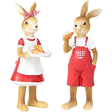 Jack& Molly, il coniglietto pasquale-Statuetta in piedi, decorazioni