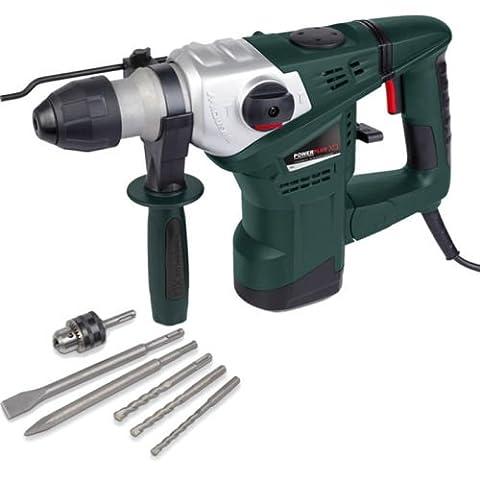 POWERPLUS 1500w, 230v SDS Electric Rotary Hammer Drill + Drill Bits POWXQ5223