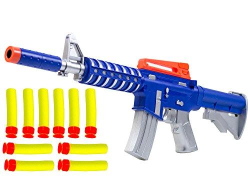 (Nick and Ben Pfeilgewehr Dart Strike Pfeile Waffe Airsoft Softair-Gewehr 12 Softpfeilen Kinder-Spielzeug Spielzeug-Gewehr)