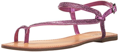 Kenneth Cole Reaction Women's Just Braid Toe Ring and Ankle Straps Flat Sandal