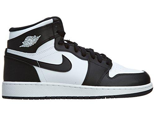 Nike Air Jordan 1 Retro High OG BG, Chaussures de Sport-Basketball Garçon Noir / blanc (noir / blanc - noir)
