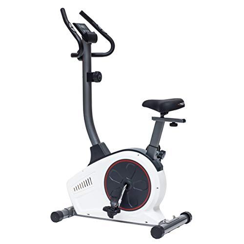 TechFit B450 Magnetisches Fitness Fahrrad Ergometer - Cardio- Fitnessfahrrad mit einstellbarem Sattel, Puls-Sensoren und LCDMonitor. Resistenter Heimtrainer für die Perfekte Figur.