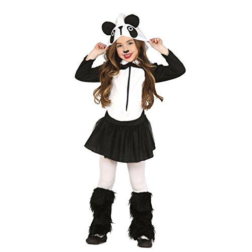 Imagen de disfraz de panda infantil atuendo carnaval oso niños m 128/140 cm años 7  9 traje animal para niña vestido divertido pandita ropa animalito fiesta temática zoo