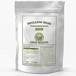 FLOHSAMENSCHALEN   250-1000 Kapseln Großpackung   Psyllium Husk   fein gemahlen + natürlich   Verdauung, Detox & Sättigung   Premium Qualität ohne Zusatzstoffe (500 Kapseln)