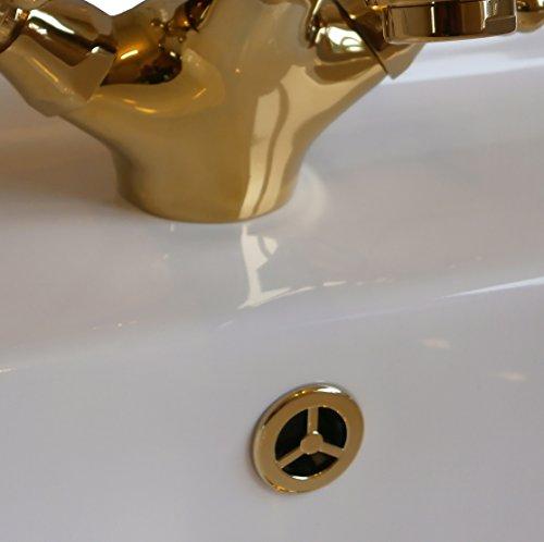 Preisvergleich Produktbild Waschbecken Überlauf Abdeckung TROVE HOUSE MARKE Monaco In Gold Farbe (8 Designs zur Verfügung)