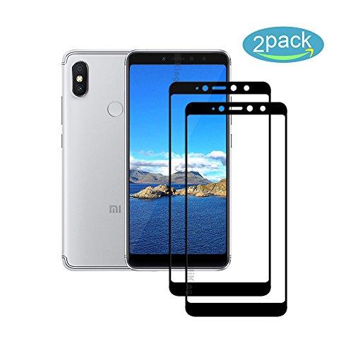 [2 Pack] Für Xiaomi Redmi S2 / Redmi Y2 Panzerglas Schutzfolie (Schwarz), Bildschirmschutzglas Panzerfolie für Xiaomi Redmi S2 / Redmi Y2 Schutzglas Folie [Ultra-klar] [9H Härte] [Kristallklar] [Bubble Free]