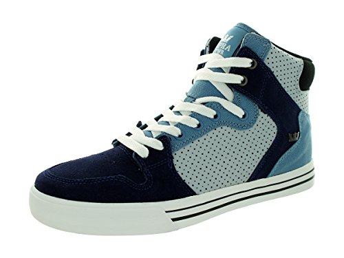 Supra Vaider, Sneakers Hautes mixte adulte Slate blue / navy - white