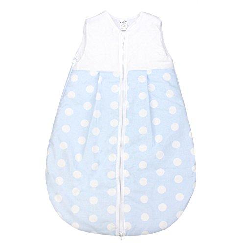 TupTam Baby Schlafsack Wattiert ohne Ärmel ANK001, Farbe: Tupfen Blau, Größe: 62-74