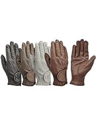 Hy5niños guantes de equitación, color negro, tamaño small