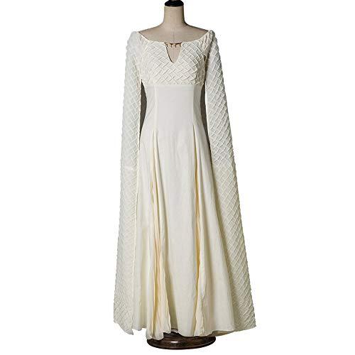 POIUYT Spiel Der Rechte Drache Mutter Absatz Cosplay Weißes Kleid Kleidung Erwachsenen Kostüm Ball Dress Up Dress - Kostüm Ball Dress Up Spiele