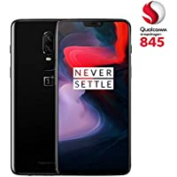 OnePlus 6 (Dual SIM) 64 GB Android 8.1 Oreo/Oxygen UK Version SIM-Free Smartphone - Mirror Black