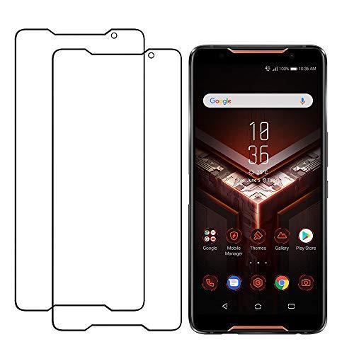 CRESEE ROG Phone Panzerglas Folie Schutzfolie [2.5D Vollständige Abdeckung] [Blasenfrei] Ultra-klares Glas 9H Panzerglasfolie Hartglas Displayschutzfolie für ASUS ROG Phone (2 Pack)