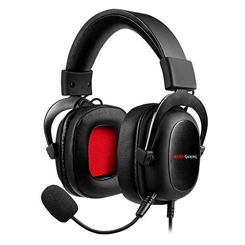 Mars Gaming MH5 Auriculares HIFI 7.1, PC, PS4, XBOX, SWITCH, Micrófono Extraíble