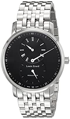 Louis Erard Men's Analog Mechanical-Hand-Wind Watch with Stainless-Steel Strap 50232AA02.BMA35