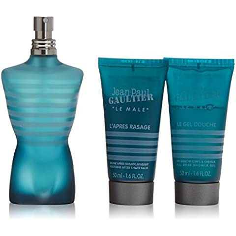 Jean Paul Gaultier Le Male Agua de Colonia + Gel de Ducha + Bálsamo After Shave - 1 Pack
