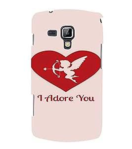 PrintVisa Valentines Day Design 3D Hard Polycarbonate Designer Back Case Cover for Samsung Galaxy S Duos S7582