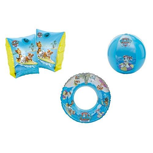 Schwimmflügel, Wasserball / Strandball & Schwimmring / Schwimmreifen Paw Patrol mit Chase, Rubble und Marshall